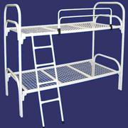 Двухъярусные металлические кровати,  кровати для общежитий. Низкие цены