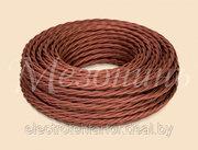 Витой провод для наружной проводки в ретро стиле Mezonin,  коричневый